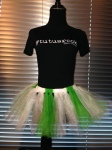 White, green, christmas tutu
